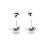 Metal Earring Billet and Back; 10pc / 13 x 4,5mm