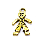 Metal Gingerbread Man Charm / 30 x 20 x 2mm