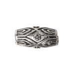 Toruja kujuga, antiikse mustriga ehte vahedetail / Ornamental Jewelery Spacer with Dotted Pattern / 14x7mm