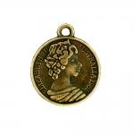 Mündi/medaljonitaoline riputis aasaga, kuninganna reljeefiga 20mm