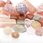 Pärlisegu hallikates, roosakates, beežikates toonides eri suurusega  pärlitest 5-20mm, 100/50g pakk
