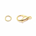 Jewellery Clasp with Jump Ring / 12 x 6mm