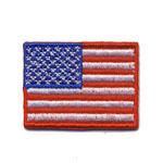 Triigitav Aplikatsioon; Väike USA lipp / Embroidered Iron-On Patch; Small US Flag / 3,5 x 2,5cm