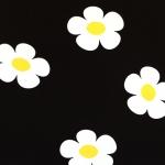 Suurte lihtsate lilledega, trikotaažkangas, 160cm, 2043-17