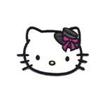 Triigitav Aplikatsioon; Hello Kitty väikse kaabuga / Embroidered Iron-On Patch; Hello Kitty with Small Hat / 6,5 x 5cm