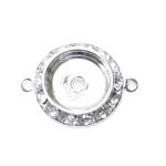 Ripatsi toorik liimitava detaili pesaga, kahe kinnitusaasaga / Circular Pendant Base / 20 x 5mm