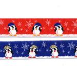 Jõulupael pingviinidega 201/B PG/ Half cotton lace laiusega 30mm