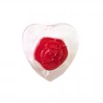 Südamekujuline, roosikujulise keskosaga kannaga plastiknööp 15mm/24L