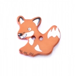 Plastic Button Fox ø20 mm, size: 32L