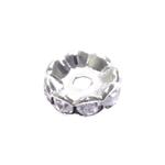 Vahedetail klaaskristallidega erinevate ehete valmistamiseks 10x3,75mm