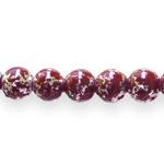 Ümarad värviliste pärlmuttertoonidega pintseldatud klaashelmed 10mm