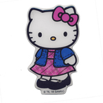 3D kleebis; Hello Kitty kleitiga / 3D Sticker; Hello Kitty in Dress / 9,3 x 5,5cm