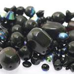 Pärlisegu Musta värvi eri suurusega  pärlitest 5-20mm, 100/50g pakk