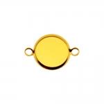 Medaljonikujuline riputis aasadega kahelt poolt / Circular Pendant Base / 12 x 2mm