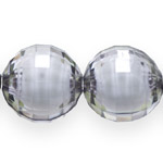 Pärl-pärlis tahulised ümarad klaasjad akrüülhelmed 20mm