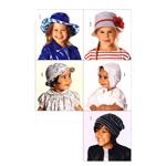 Mütsid 38- 54cm (pea ümbermõõdule)/Caps Burda 9496