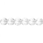 Läbipaistev ümar tahuline 4mm auguga klaashelmes 10mm