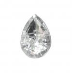 Tilgakujuline kristallilaadne akrüülnööp 14x10mm, 22L