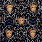Leopardimustriga trikookangas, 150cm, 12913