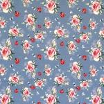 Rooside ja lepatriinudega , veniv puuvillasegu kangas 11930 150cm, Stenzo textiles