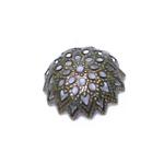 Pitsiline lillekujuline pärlikübar / Bead Cap / 14mm