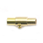 Cylindrical Magnetic Clasp with Lock / 15,5 x 5mm