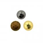 Kärjemustriga, metallilaadsest plastikust, kannaga pidulik nööp 8mm, 14L