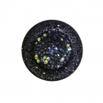 Suur, sädelevate plastikkristallidega, kannaga nööp 38mm, 60L