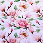 Suurte maaliliste lilledega, puuvillast trikookangas, 150cm, DIGI 30147