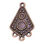 Ornamental Rhombic Pendant with Eyelets / 30 x 18 x 2mm
