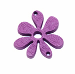 Erivärvilised filigraansed puitdetailid / Wooden Flower Pendant / 30 x 2mm