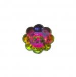 Lillekujuline kristallilaadne akrüülnööp 12mm, 20L