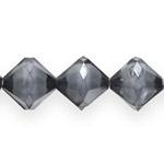 Pärl-pärlis tahulised rombikujulised klaasjad akrüülhelmed 18mm