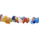 Kirjud mustrilised kandilised ebakorrapärase kujuga millefiori pärlid 4-8mm