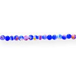 Kirjud mustrilised ümarad millefiori pärlid 4mm