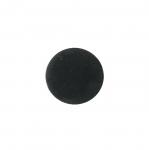 Must, sametpinnaga, kannaga plastiknööp 15mm/24L