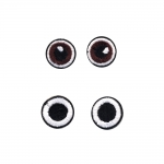 Triigitav piltaplikatsioon silmad, 2 paari, 2cm ja 2cm