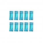Ristkülikukujuline plastkristall 8x3mm; 10tk pakis