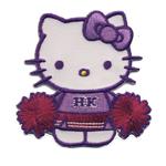 Triigitav Aplikatsioon; Hello Kitty kisakoori juht / Embroidered Iron-On Patch; Hello Kitty Cheerleader / 6,3 x 6,3cm