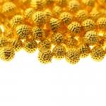 Ümar, metallilaadne, reljeefse mustriga, aukudeta plasthelmes ø5mm