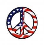 Tikitud piltaplikatsioon, Rahumärk, USA lipul 8cm