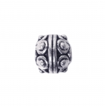 Ümar, antiikse mustriga ehte vahedetail / Ornamental Jewelery Spacer with Dotted Pattern /7mm