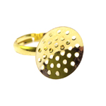 Sõrmusetoorik sõelataolise kettaga / Perforated Round Finger Ring Base / 18mm