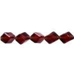 Rombikujuline viltune diagonaalselt läbistatud auguga kristall 12x8mm
