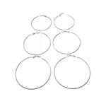Round Loop Earring Ear Wire Pairs and Sets / 50, 60, 70mm