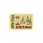 Õmmeldav Aplikatsioon `Indians village` indiaaniküla vapp 4,5x3cm