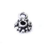Metal Flower Charm / 12 x 8mm