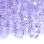 Torujas ümar tahuline klaashelmes, 4mm- auguga; 8x6mm