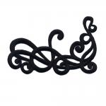 Triigitav nurkmine ornament, parempoolselt joondatud 10x6,5cm