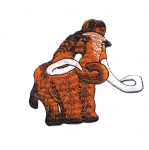 Embroidered Iron-On Patch; Mammoth / 9 x 8cm